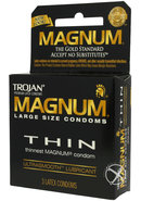 Trojan Condom Magnum Thin Large Size Lubricated 3 Pack