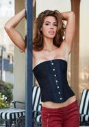 Essential Satin And Lace Corset Blk L