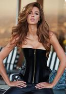 Suede And Leather Corset Blk S